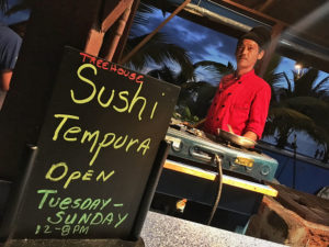 Sushi now at Treehouse Resort